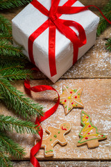 Small gingerbread cookies for Christmas gift