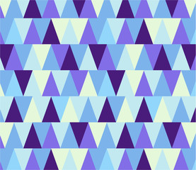 Poster ZigZag Seamless geometric pattern in winter colors