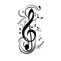 Abstract treble clef