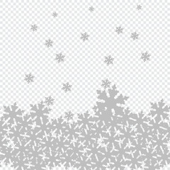Vector Background with snowflakes Christmas motif