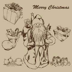 Weihnachtsmann Illustration