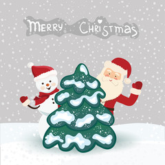 Christmas card in vector