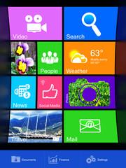 Information technology concept: desktop background