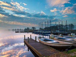 Wall Mural - recreational harbor at a lake
