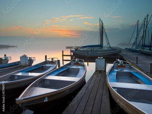 Wall mural rental boats