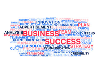 Business success. Word cloud concept