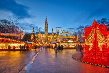 In de dag Wenen Christmas market in Vienna