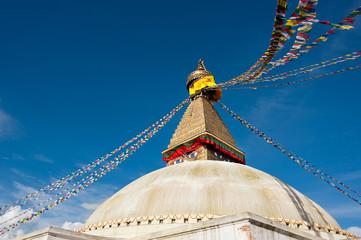 Buddhist Shrine Boudhanath Stupa. Nepal
