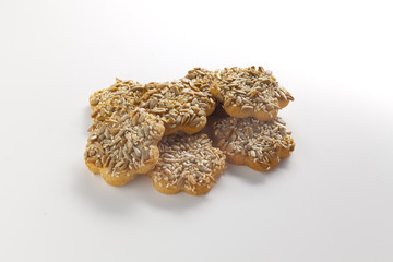 biscuits with nuts isolated