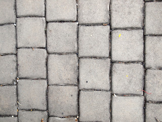 pavement Background of grey cobble stones