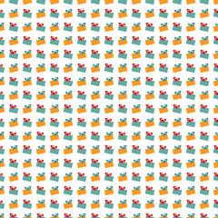 Abstract Christmas gift pattern wallpaper. Vector illustration