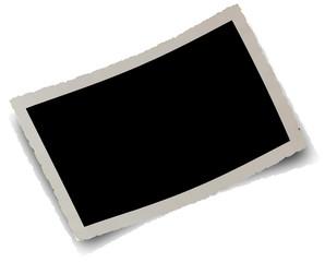 cadre photo ancienne, fond noir et ombre