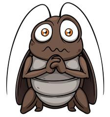 Vector illustration of cartoon cockroach