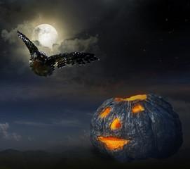 Fotobehang Volle maan Halloween