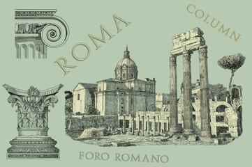 Roma view illustration