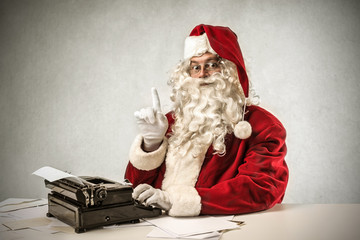 elderly Santa Claus