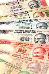 In de dag Kranten Close up of Indian currency notes