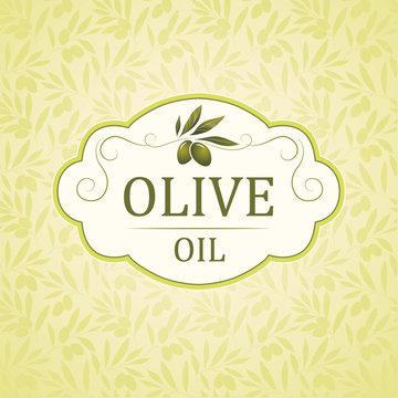 Olive pattern. decorative olive branch.For labels, packaging.