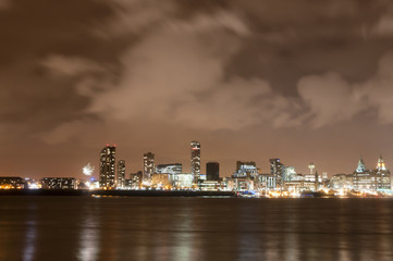 Liverpool Firework Panorama on New Year's Eve