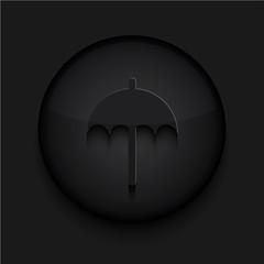 Vector black circle icon.Eps10