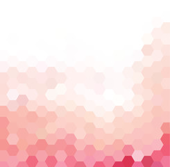 Pink and white hexagonal grid