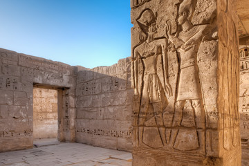 Medinet Habu temple in Luxor, Egypt