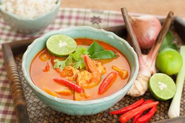 Tom Yum Goong Thai Cuisine, Prawn Soup with lemongrass.