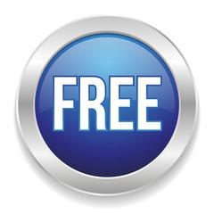 Blue round free button
