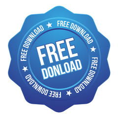 Big blue free download button
