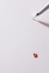 ペンと天道虫