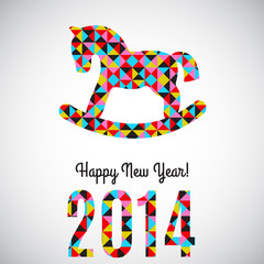 Vector 2014 New Year abstract greeting card