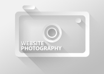 Website photography camera icon 3d illustration flat design