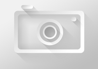 Photo camera icon 3d illustration flat design