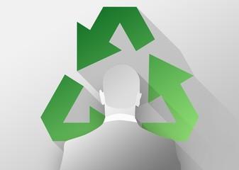 Eco friendly business 3d illustration flat design