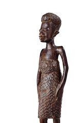 African Statue of a Girl Knee Length