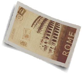 carte postale ancienne de Rome, Italie