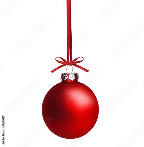 rote weihnachtskugel stockfotos und lizenzfreie bilder auf bild 58040915. Black Bedroom Furniture Sets. Home Design Ideas