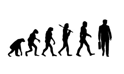 Evolution Businessman