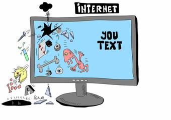 concept doodle breakdown internet and screen
