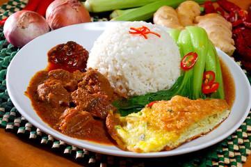 asia food and rice malaysia
