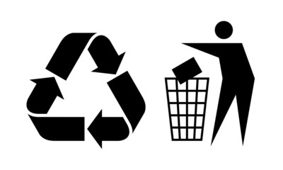Litter and Recycle Sign