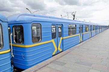 Subway cars in Kiev