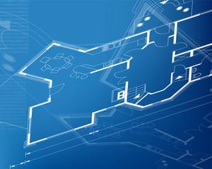 architectural background blueprint. vector illustration