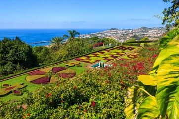 Tropical Botanical Gardens in Funchal town, Madeira island Fototapete