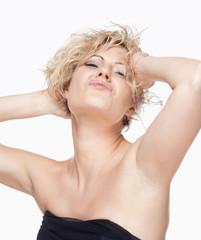 Portrait of a Seductive Young Woman