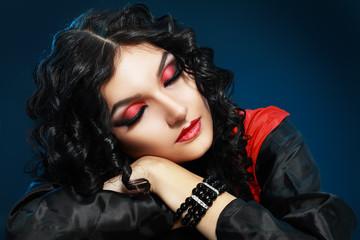 Vampire girl sleeping