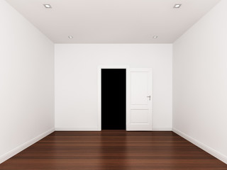 door open , empty room,3d nterior