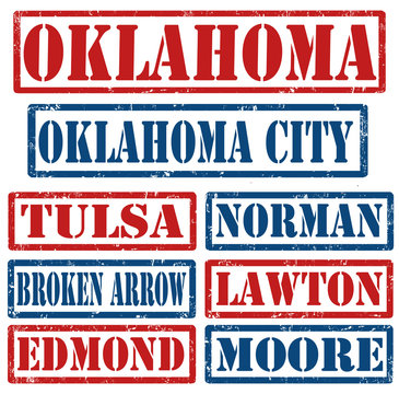 Oklahoma Cities stamps