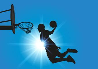 Basket_Ciel bleu