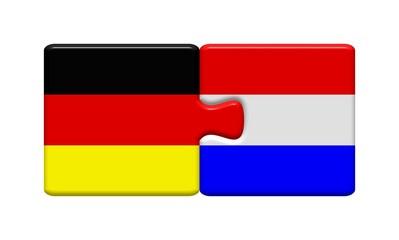 Puzzleteile: Deutschland und Niederlande zusammen